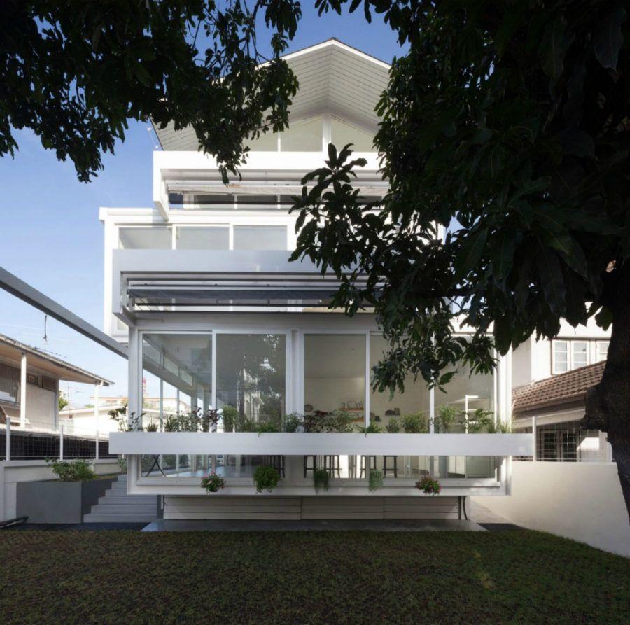 SOOK Architects entwarf ein modernes Haus in Bangkok | Bangkok, Haus ...