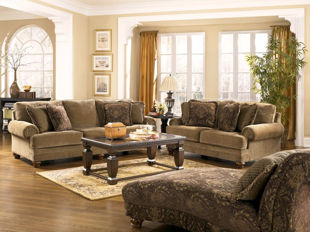Marvelous Ashley Furniture Living Room Sets | Room Set By Ashley Furniture 37300  Stafford Antique Living Room