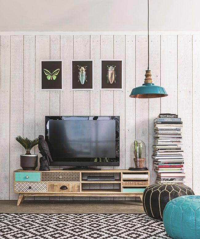 Mango wood storage furniture media unit furniture - Storage units living room furniture ...