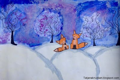 Meet The Creative Part of Me: Foxes in winter landscapes - Created by 4th year