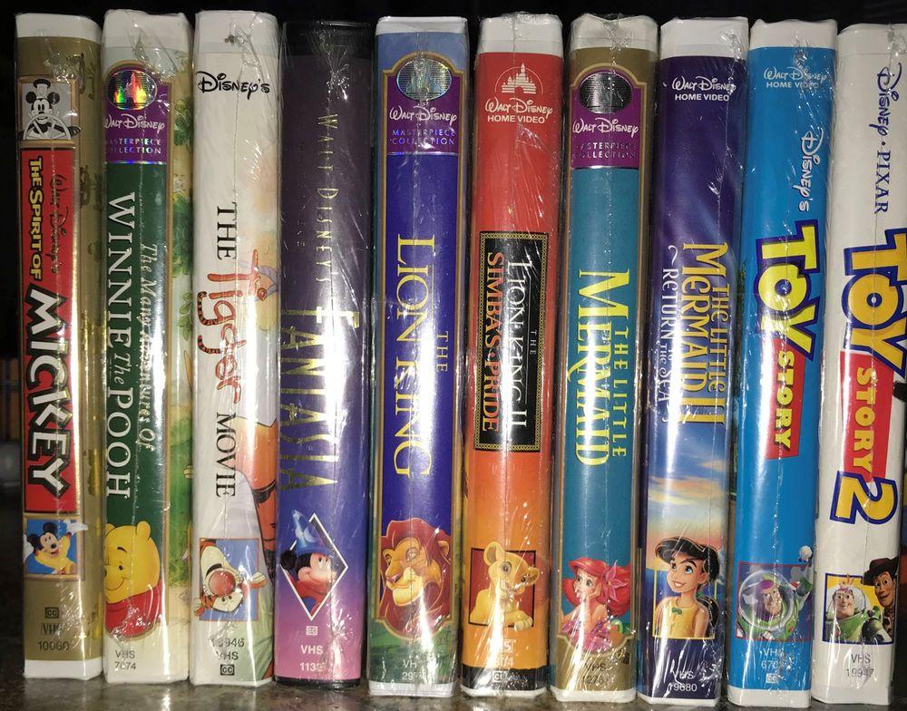 Walt Disney Vhs Tapes Lot Spirit Of Mickey Tiger Movie Winnie The Pooh Etc Disney Vhs Tapes Vhs Tapes Walt Disney