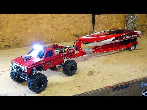 RC ADVENTURES - Beast 4x4 with a Cormier Boat Trailer - Traxxas Spartan Speed Boat in Tow! - YouTube
