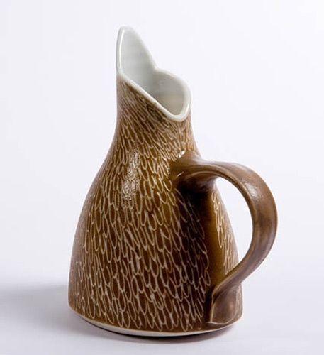 Pottery & China Handmade Julie Ayton Stoneware Art Pottery Water Pitcher Last Style Studio/ Handcrafted Pottery