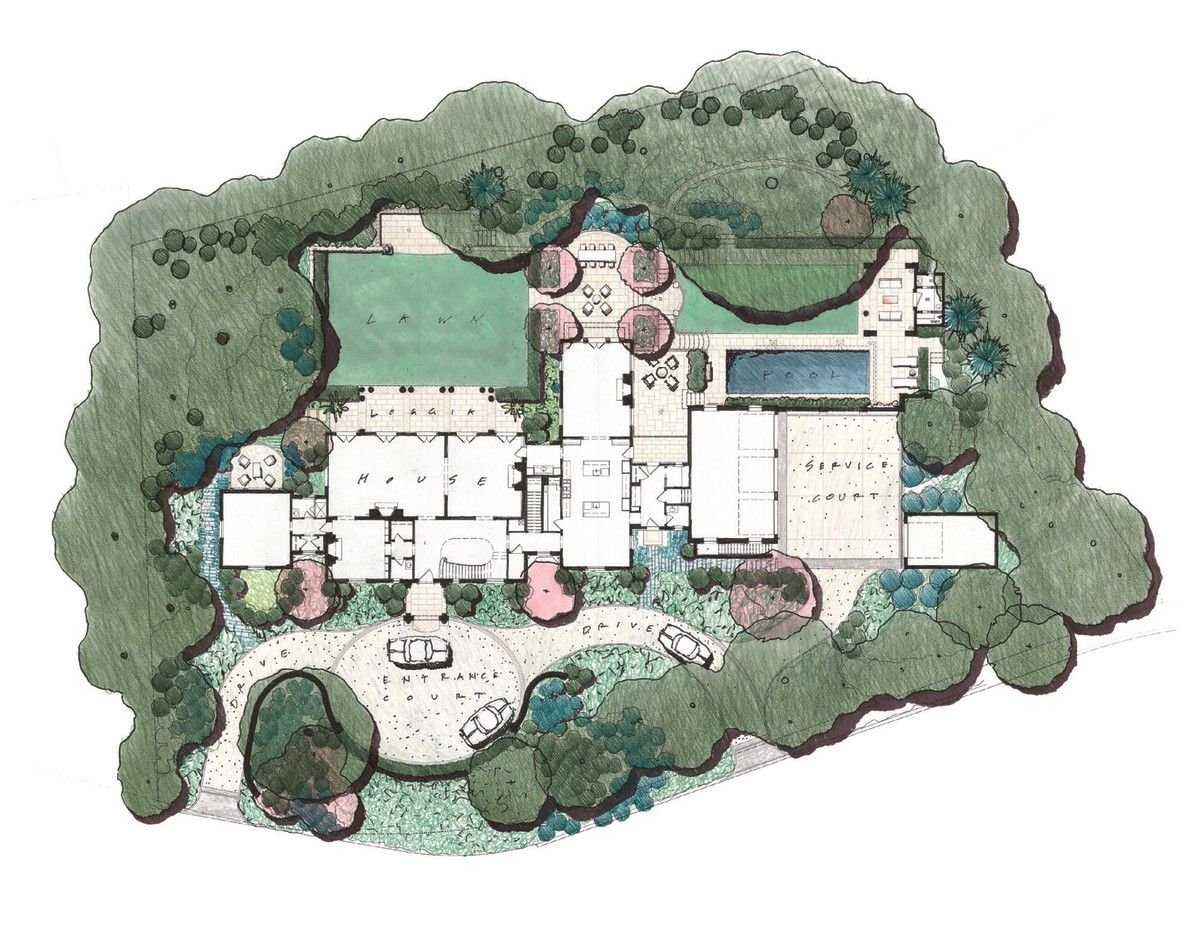 Architectural Site Plan For The Grand Home Site Plan Design Architectural Floor Plans Architecture Site Plan