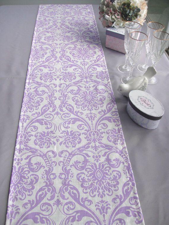 Beautiful Lavender Table Runner