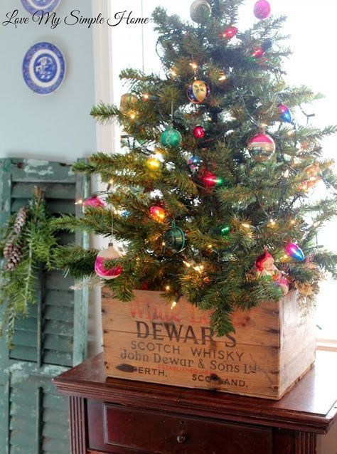 Idee Natalizie Con Pallet E Cette Di Legno Ecco 20 Country Christmas Treessmall