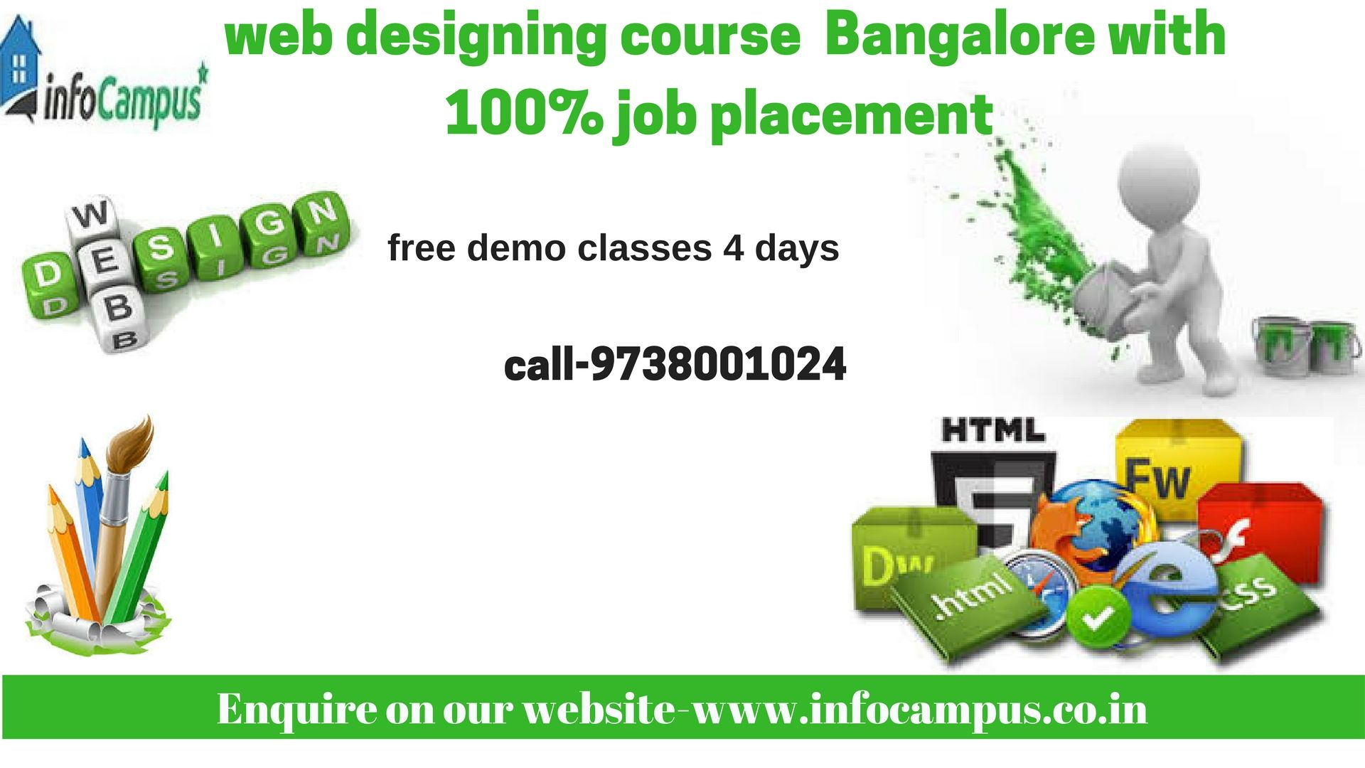 Infocampus Provides Real Time And Placement Focused Web Designing Course In Bangalore We Have Designed Our Web With Images Web Design Jobs Web Design Training Web Design