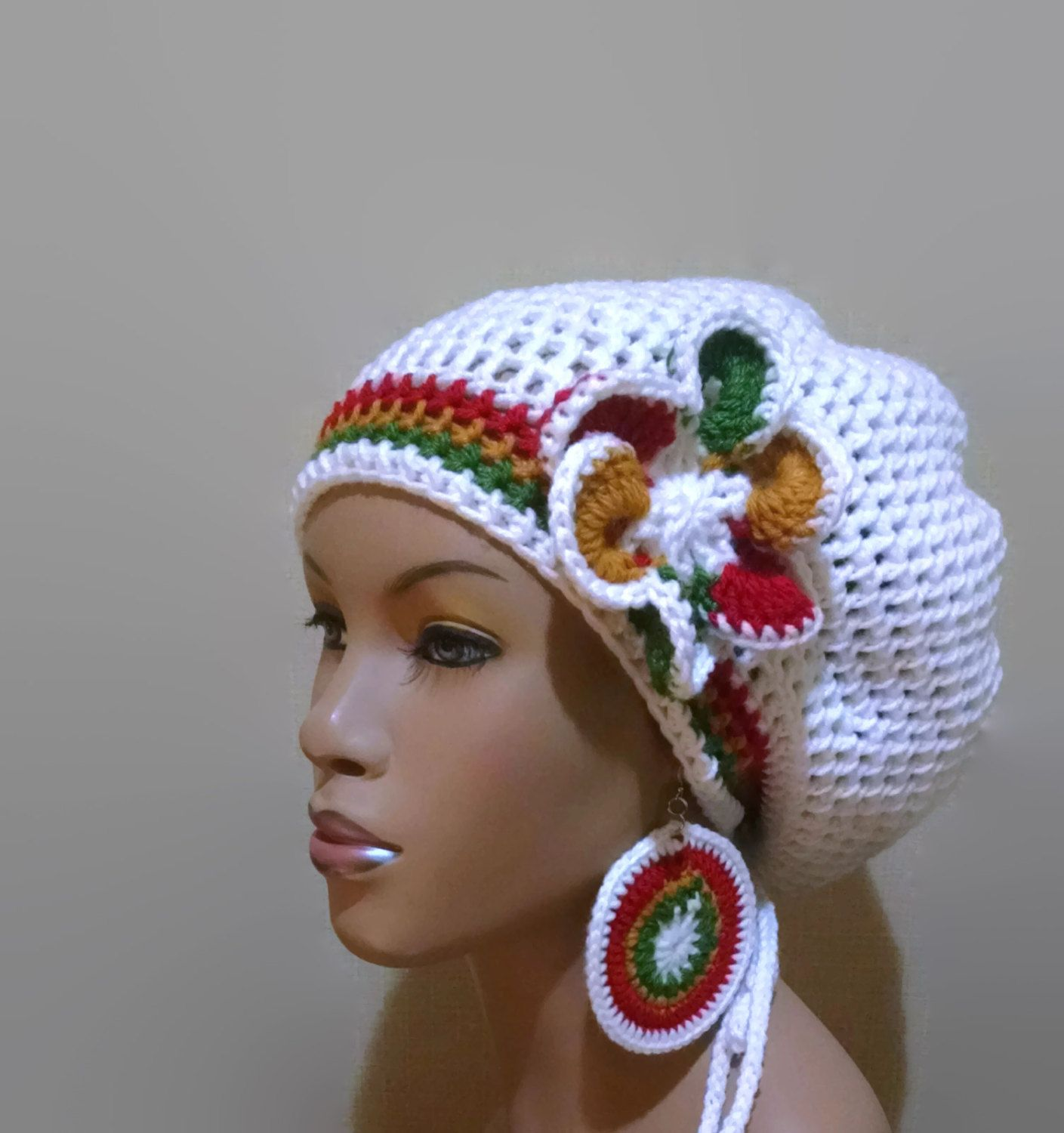 Instant Download Crochet Pattern adjustable Slouch hat/Dreadlock hat ...