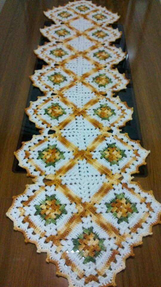 Tapete, gostei muito.   crochet   Pinterest   Caminos de mesa ...