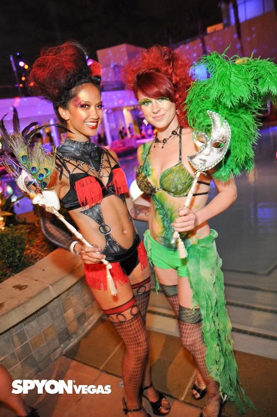 Unique costumes from Midsummer Lingerie Masquerade   Palms Pool and  Bungalows in Las Vegas cb002fa28