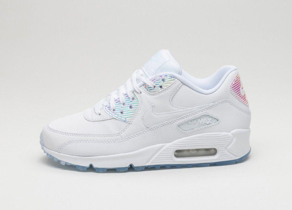 Shop Nike Air Max 90 Print In Fancy Rosa & Silber (Damen