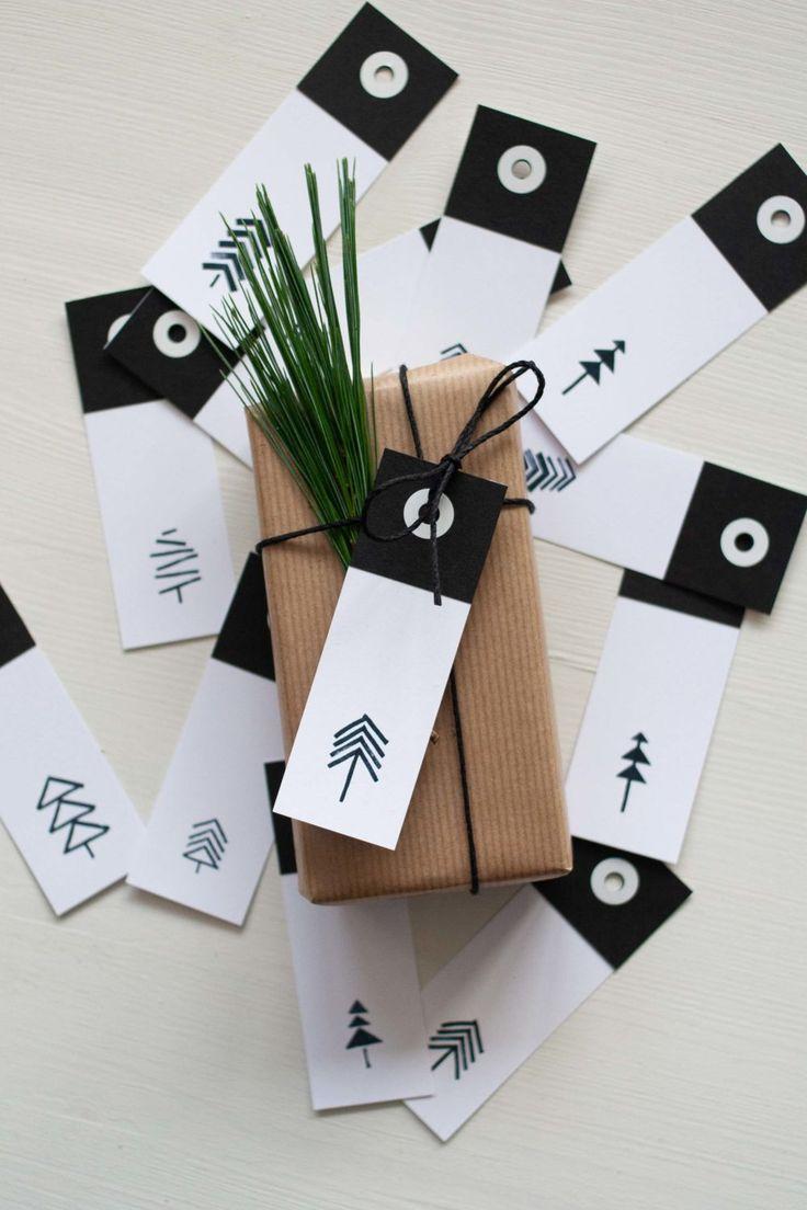 geschenkanh nger f r weihnachten diy basteln mit papier. Black Bedroom Furniture Sets. Home Design Ideas