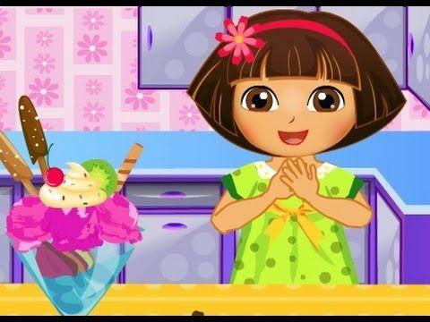 دورا الصغيرة طبخ ايس كريم دورا العاب كرتون للاطفال 2015 Dora Games Baby Games For Kids Cartoon Kids