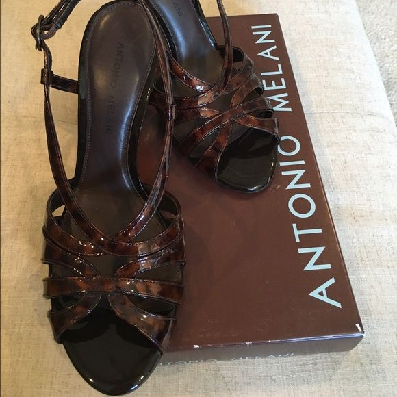 104d1e1776d4 NEW Antonio Melani Shoes New Antonio Melani Heels Classy Tortoise Brown  Never Worn 4