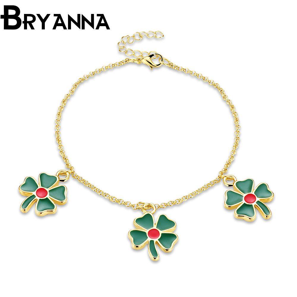 Click to buy ucuc bryanna hot four leaf flower bracelets u bangles