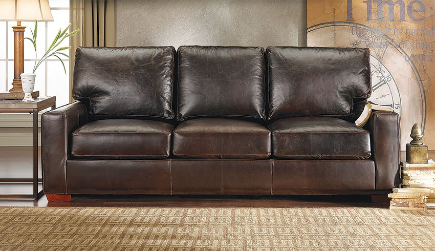 By The Rocky Mountain Leather Company Now Featured At Haynes Handmade Rockymountainleather Sofa Brown Interiordesign