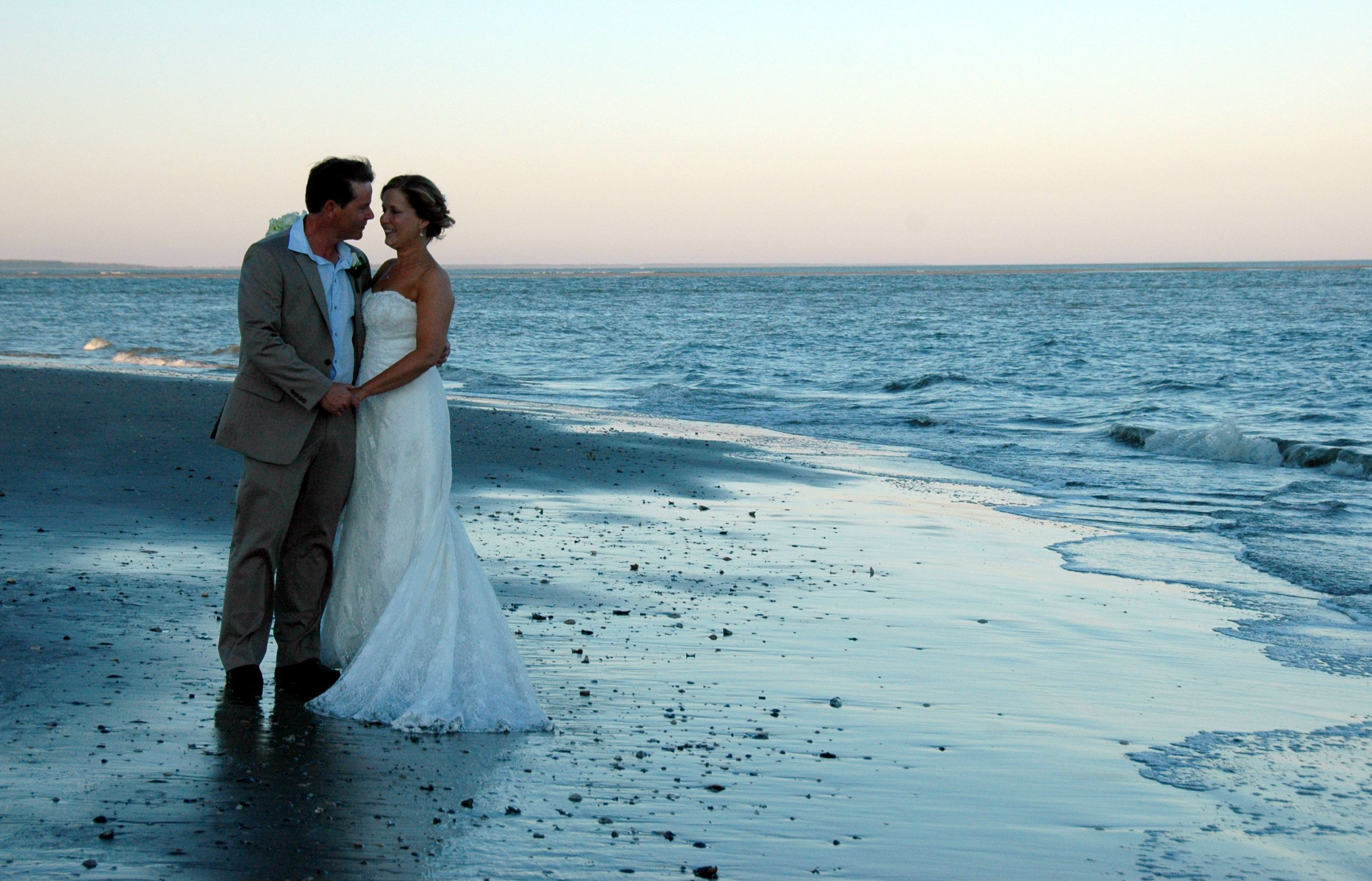 Isle Of Palms Sc Beach Wedding At Sunset In October Beautiful