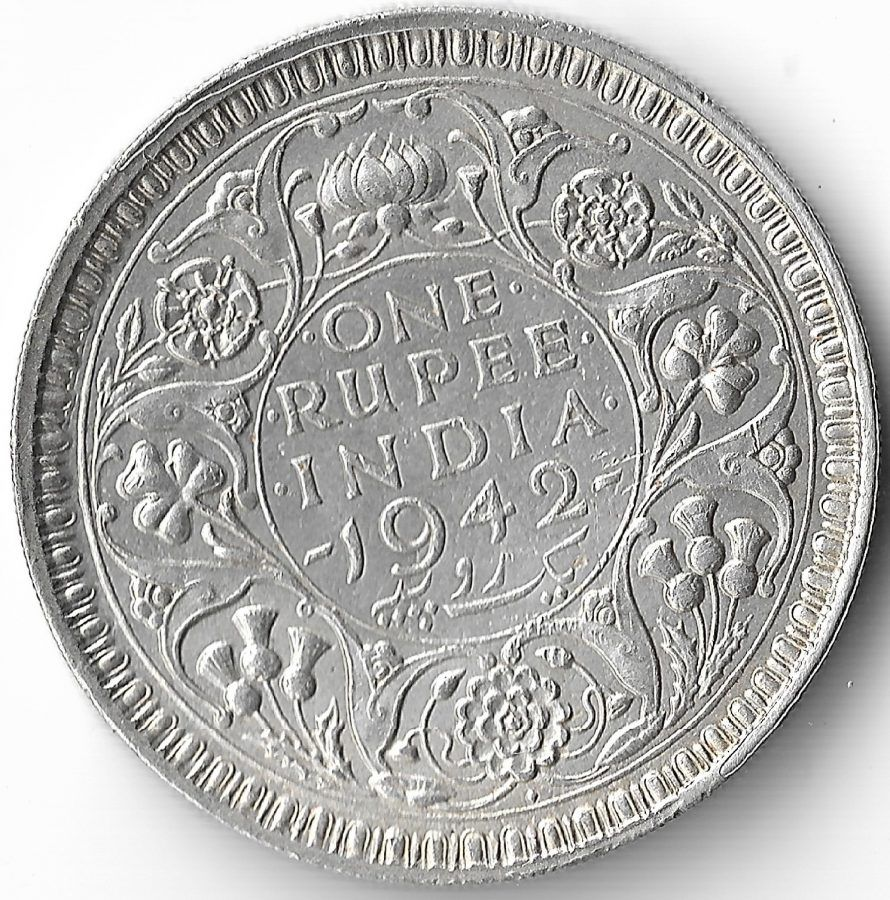 One Rupees India 1942 George Vi King Emperor Silver Coin 1 In 2020 Silver Coins George Vi Commemorative Coins