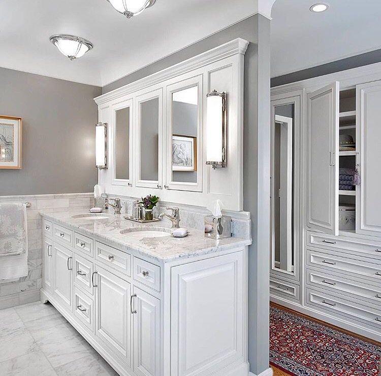 Master Bath And Closet Combo