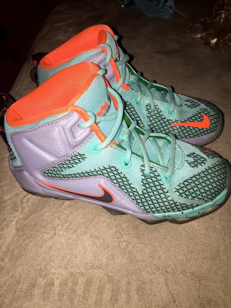 best service 093d5 b8034  toddler  nike lebron 12 xii 6 meridians basketball  shoes sneakers 12c  orange gray from  35.0