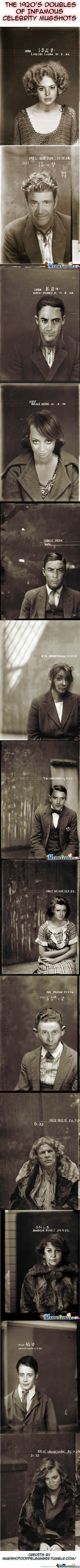 The 1920's Doubles Of Infamous Celebrity Mugshots