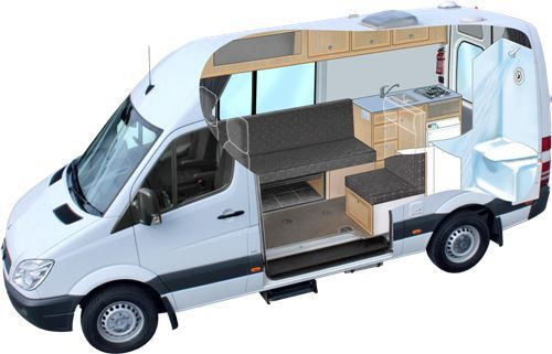 Ford Camper Van Cutaway   vanaboding   Ford transit camper, Camper