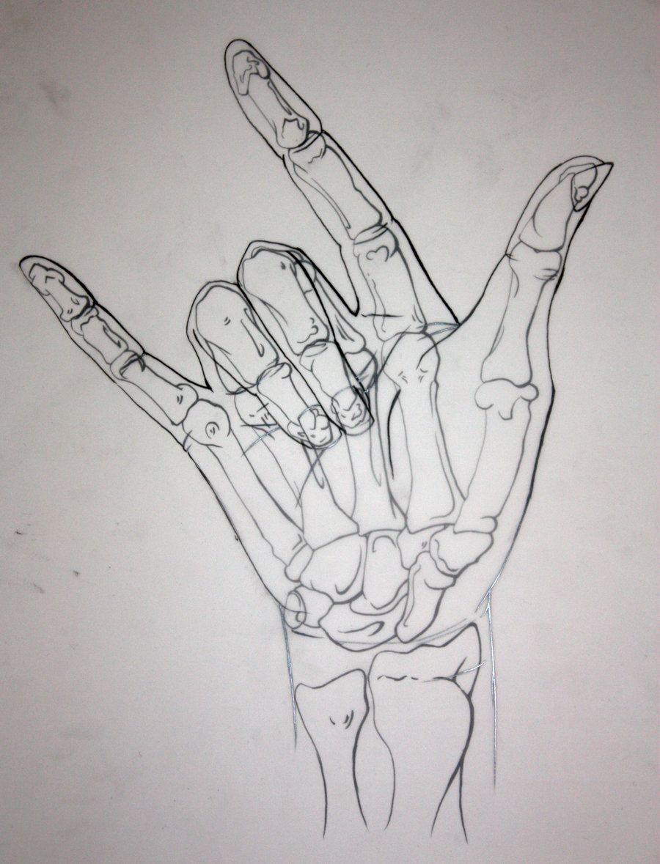 Skeletal Hand by ~Yuwi on deviantART | Illustration ...