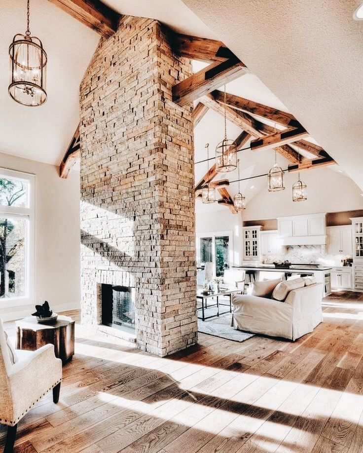 Maybe I Like The Idea Of The Fireplace In The Middle Of Two