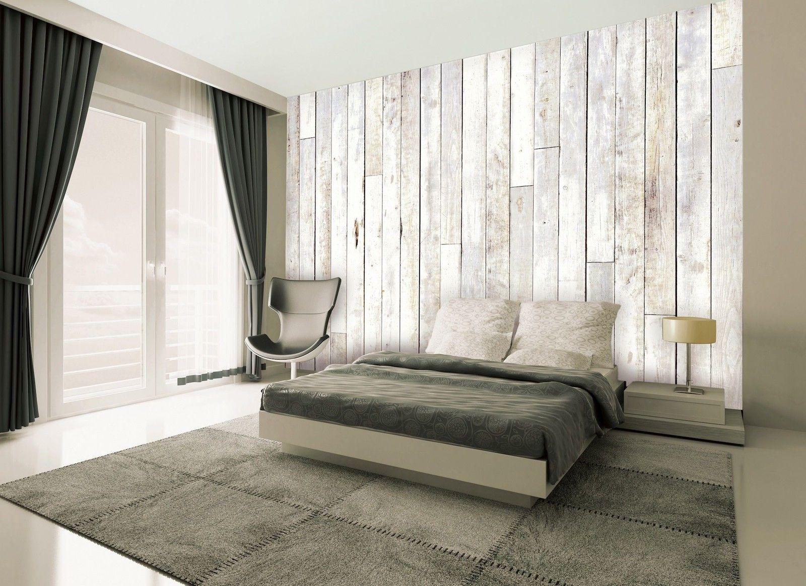 £40 1WALL Distressed Wood Panel Wall Mural. eBay