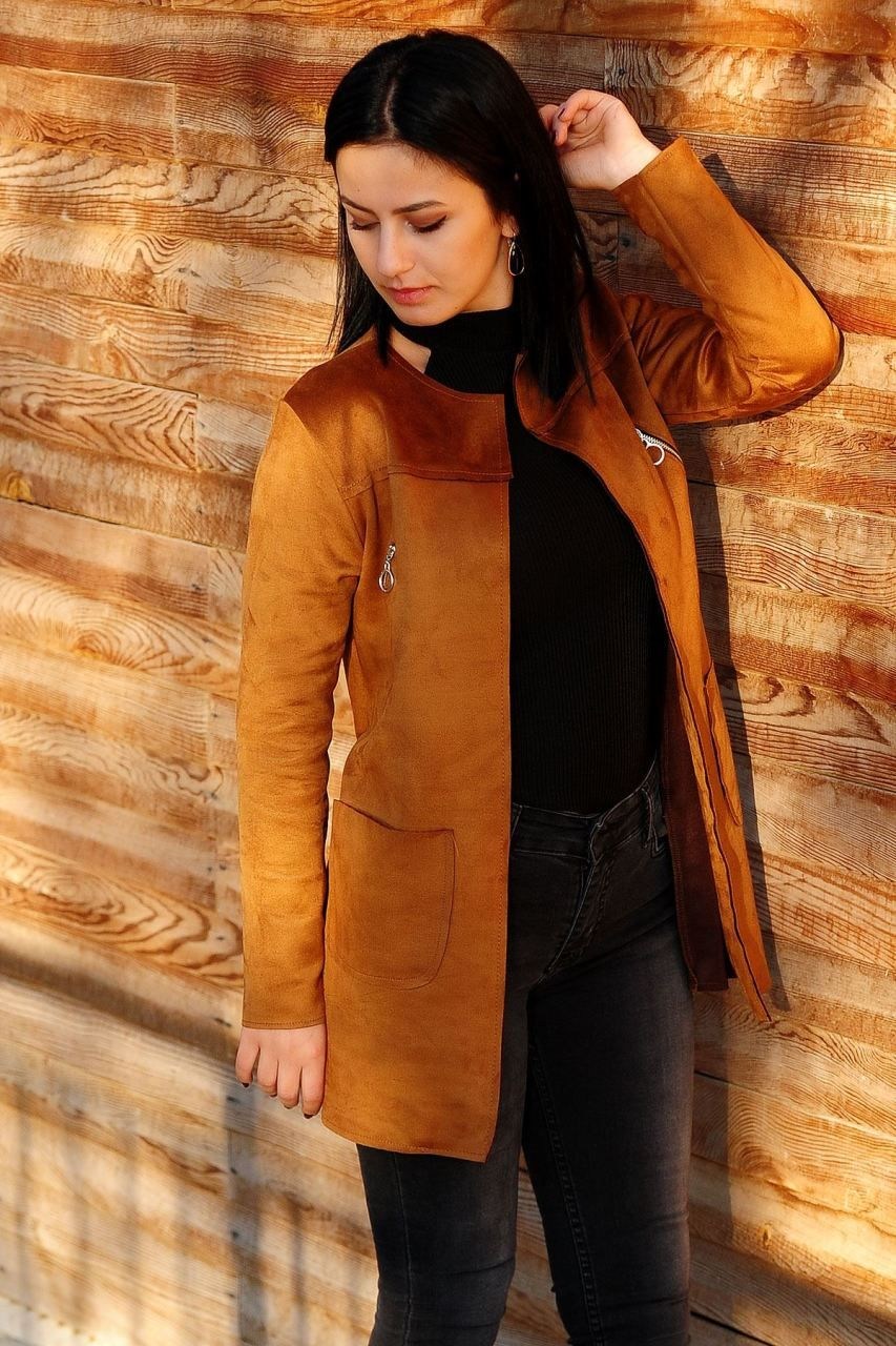 0f225b653b4c9 Fermuar Detay Taba Ceket #giyim #indirim #kampanya #bayan #erkek #bluz  #gömlek #trençkot #hırka #etek #yelek #mont #kaşe #kaban #elbise #abiye  #büyükbeden ...
