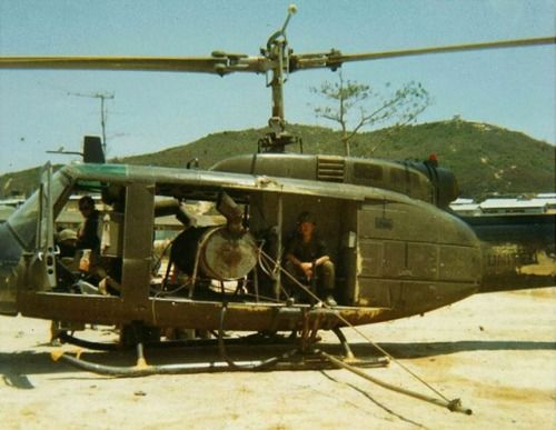 Bell UH-1 Huey with defoliant distribution system.