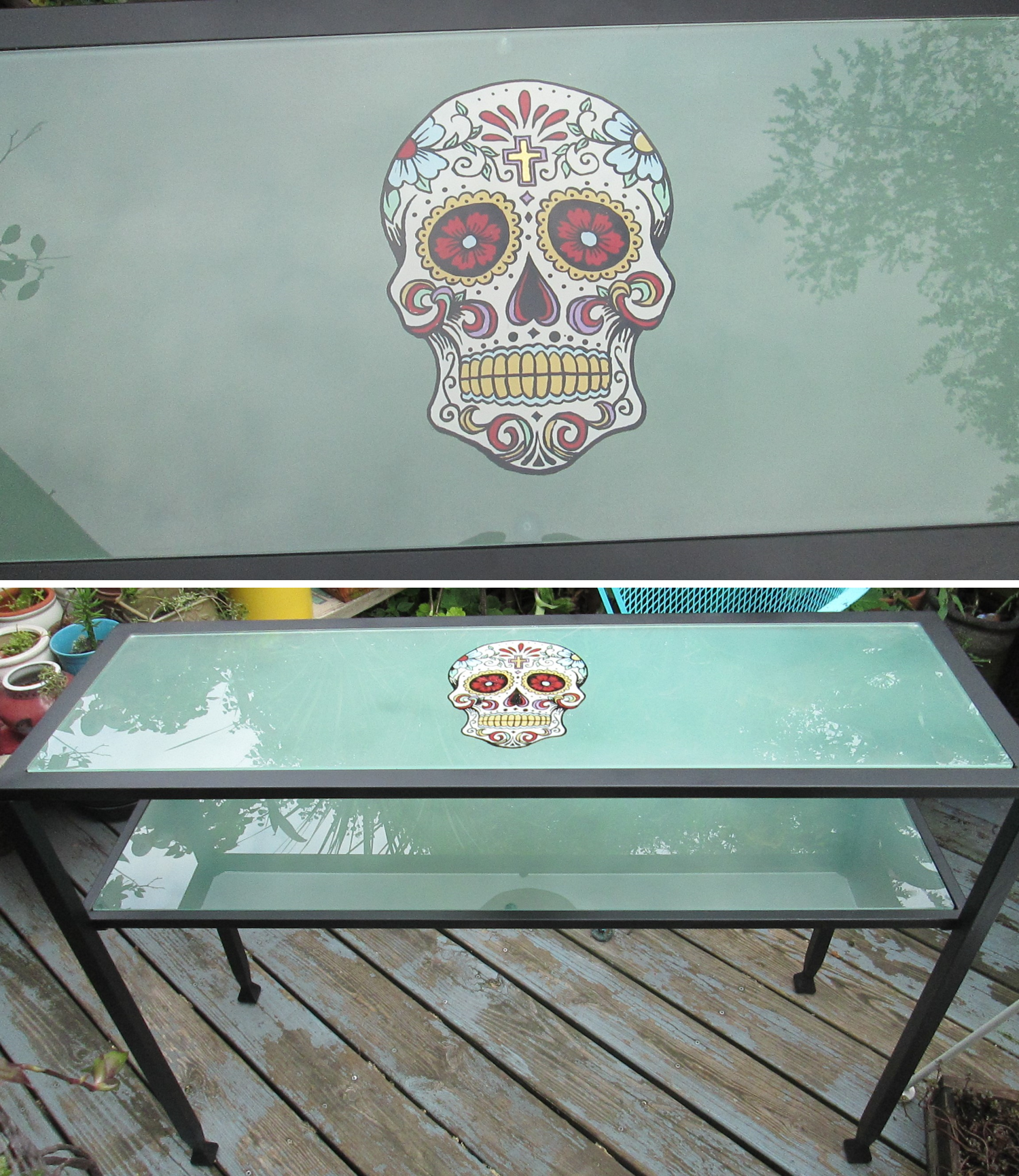 Sugar Skull Glass Table Glass Table Table Glass [ 1731 x 1500 Pixel ]