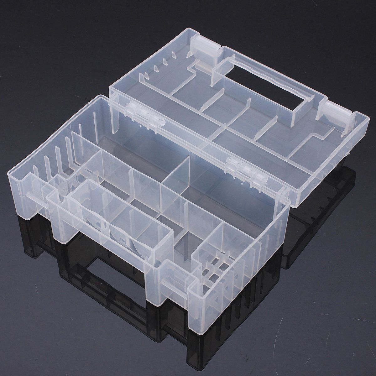 Transparent Plastic Battery Holder Storage Case For Aa Aaa Tools Box Tool Box Battery Holder Tool Organizers