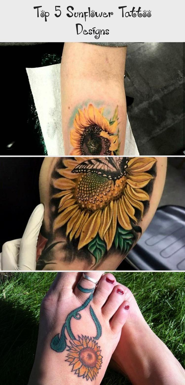 Top 5 Sunflower Tattoo Designs Watercolorsunflowertattoos ...