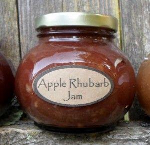 Apple Rhubarb Jam : Canning on Sundays