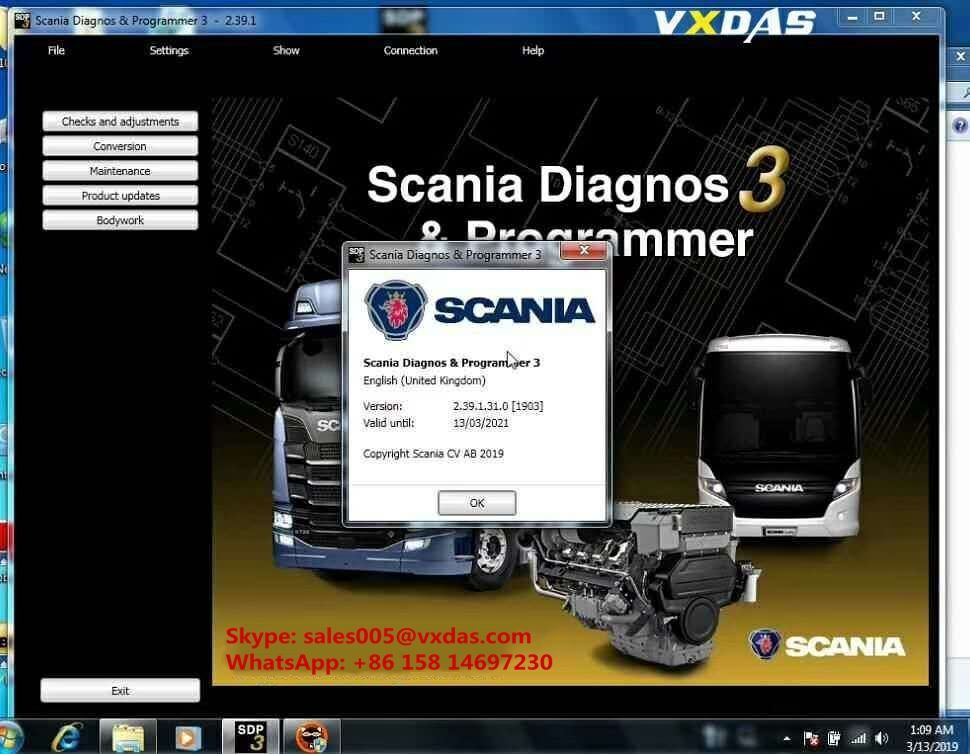 Scania SDP3 2.39.1 Activation #programingsoftware