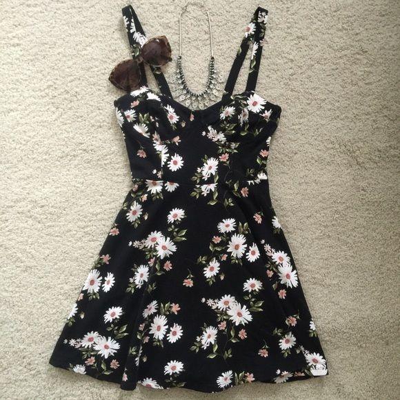 10++ Black floral spaghetti string dress ideas