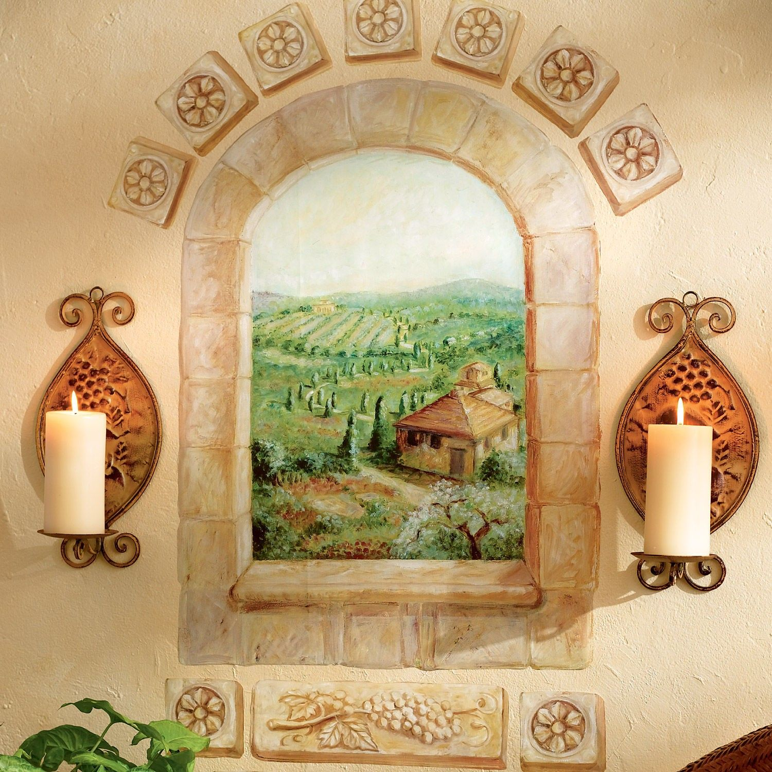 Delightful Tuscan Bathroom Wall Art