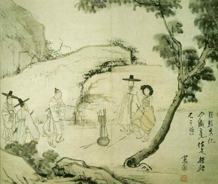 Korean Traditional art by Shin Yun-bok