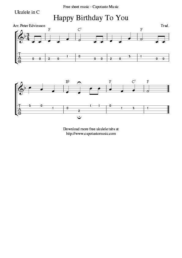 All Music Chords desperado sheet music : Happy Birthday To You | Ukulele Songs | Pinterest | Happy birthday ...