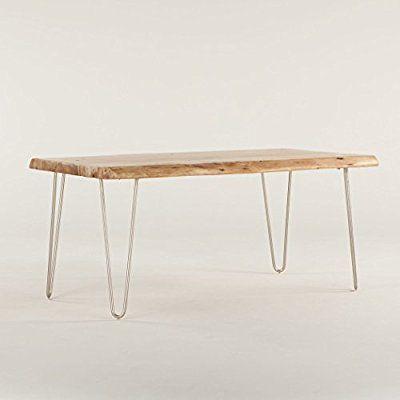 World Interiors Granby Acacia Live Edge Dining Table 68 Natural