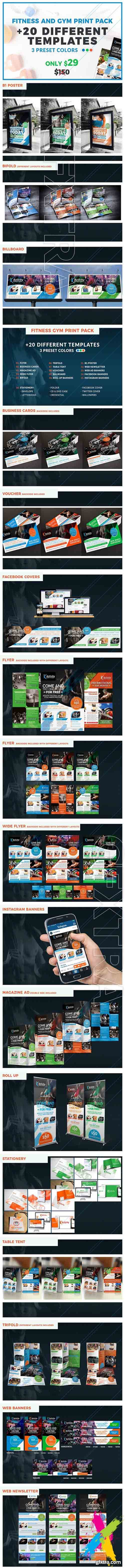 Cm fitness gym business print pack 1672025 gfxtra pinterest cm fitness gym business print pack 1672025 reheart Images