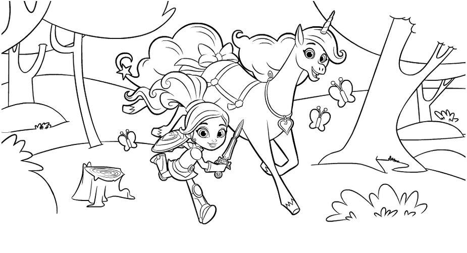 nella the princess knight and unicorn