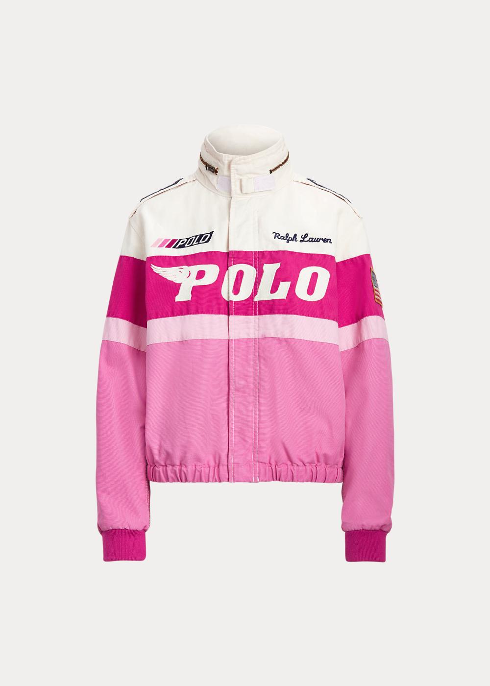 Pink Pony Cotton Canvas Bomber Jacket Fleece Baseball Jacket Ralph Lauren Mens Shirts Bomber Jacket [ 1400 x 1000 Pixel ]