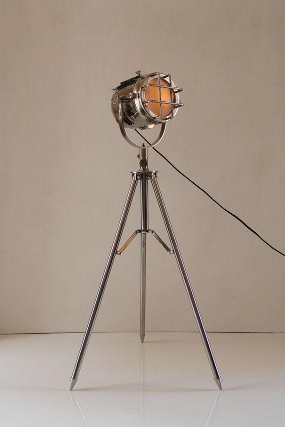 Decoracion Vintage Diseno Tripode Iluminacion Reflector Luz Inicio X2f Oficina De Con Esta Lampara De Pie Estas En Una Buena P Chrome Lamp Floor Lamp Lamp