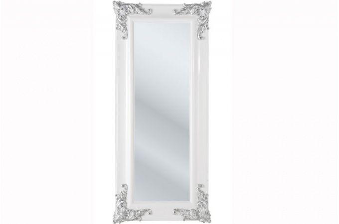 Miroir declikdeco grand miroir kare design baroque blanc decoration miroir kare design for Miroir baroque pas cher
