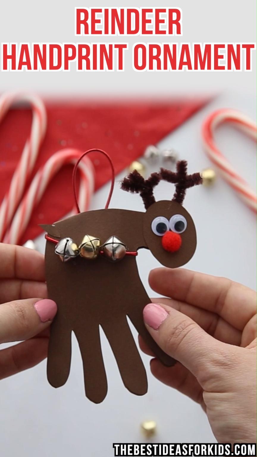 Reindeer Handprint | Kreschtdaag | Pinterest | Christmas crafts ...