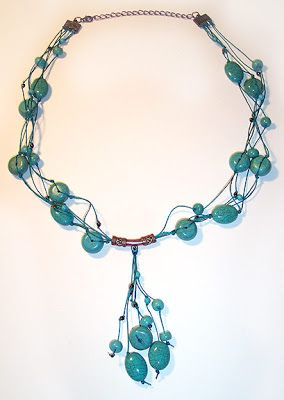 Beading Arts: Making a knotted turquoise necklace