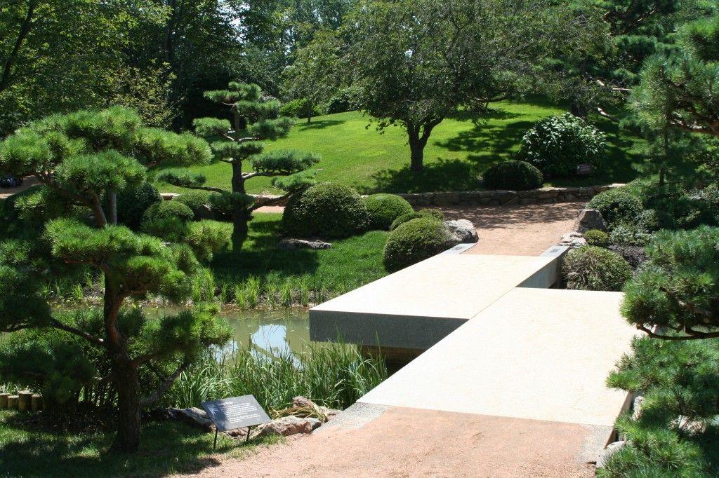 Very Creative Zig Zag Bridge at Chicago Botanic Garden - Most Beautiful Gardens
