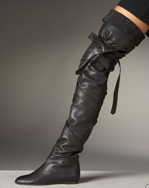 Vintage Boots: High Boots | Shoes | Pinterest | High boots, Flats ...